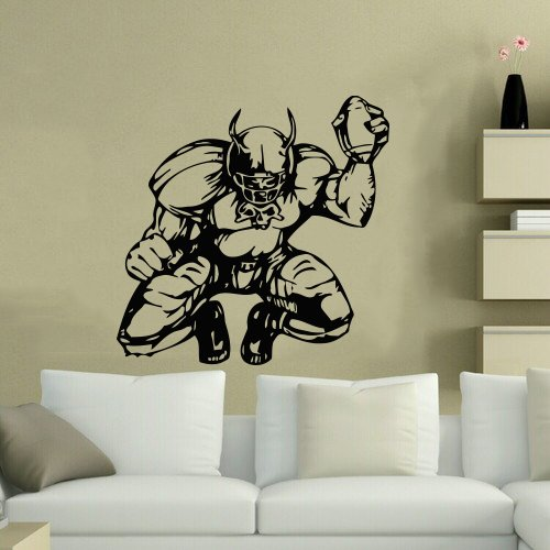Housewares Wall Vinyl Decal Sport People American Football Player Home Art Decor Kids Nursery Removable Stylish Sticker Mural Unique Design For Any Room front-965182