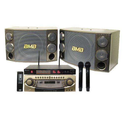 BMB Pro 600W Mixing Amplifier and Speaker System with Dual UHF Mics (Bmb Mixing Amplifier compare prices)