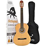 Full size (4/4) student classical guitar outfit with gig bag (Natural)
