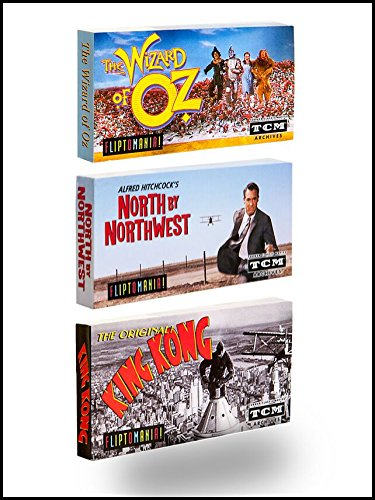 Fliptomania Classic Movies Flipbook 3-Pack: Wizard of Oz, North by Northwest, King Kong (original) (Flips Corn compare prices)