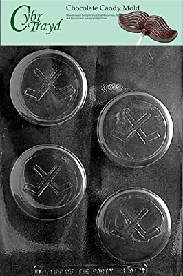 Cybrtrayd S091 Sports Chocolate Candy Mold, Hockey Puck