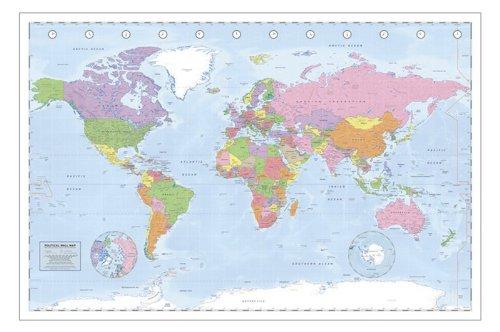 Weltkarte als Poster   Politische Weltkarte
