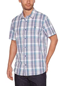 Oxbow Otaru Chemise manches courtes homme Dusty Blue FR : 38 (Taille Fabricant : M)
