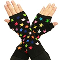 Angelina Arm Warmer / Sleeves Extension, Color Stars on Black