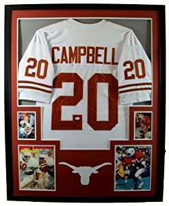 Earl Campbell Framed Jersey Signed JSA COA Autographed Texas Longhorns Houston Oilers by Mister Mancave