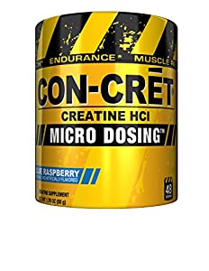 CON-CRET Creatine HCL, Blue Raspberry, 48 Servings