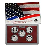 2010 - S Silver America the Beautiful National Parks Quarters Proof Set with Box and CoA Set Proof