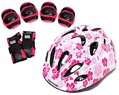 Meteor Girls Protective Helmet and Pads Set from Meteor