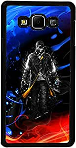 PrintVisa Case Cover for Samsung Galaxy A7 (D7666 Boy Fire Ice)