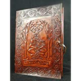 Horned God Cernunnos - Large Handmade Leather Journal Wicca Book of Shadows
