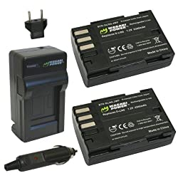 Wasabi Power Battery (2-Pack) and Charger for Pentax D-LI90 and Pentax 645D K-01 K-3 K-5 K-5 II K-5 IIs K-7