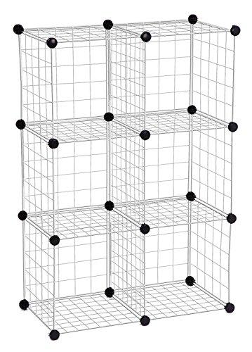 Honey-Can-Do shf-01794modulare rete portaoggetti Pattumiera, Metallo cromato, 43x 29, confezione da 6