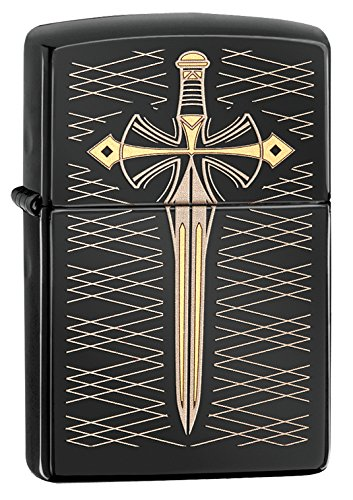 Zippo Knife Design Pocket Lighter, Ebony