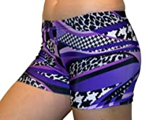 Mamba Spandex Shorts (2.5 In. Adult L 10-12, Purple Mamba)