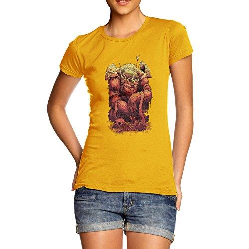 TWISTED ENVY - Top - Maniche corte - Donna giallo X-Large