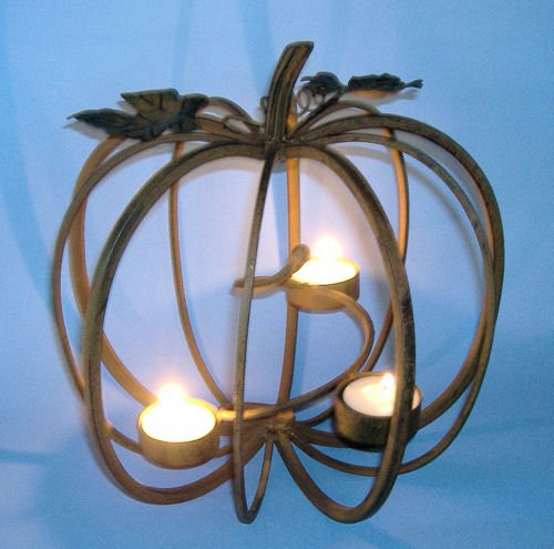 Wrought iron candle holders september