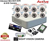 HIKVISION DS-7108HGHI-F1 MINI 8CH DVR + ACTIVE AHD 1.3 Megapixel High Resolution 36IR DOME CAMERA 8pcs + 1TB HDD + ACTIVE CABLE + ACTIVE POWER SUPPLY (FULL COMBO)