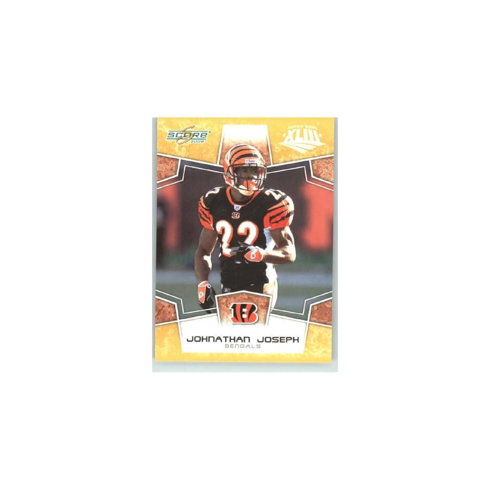2008 Donruss / Score Limited Edition Super Bowl XLIII Gold Border # 66 Johnathan Joseph   Cincinnati Bengals   NFL Trading Card in a Prorective Screw Down Display Case