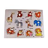 Rolimate Deluxe Classic juguetes variable del rompecabezas Bundle Bosque Animales clavija de madera