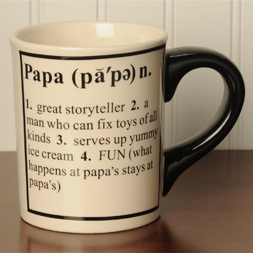 Tumbleweed 'Papa' Definition Ceramic Coffee Mug 20Oz.