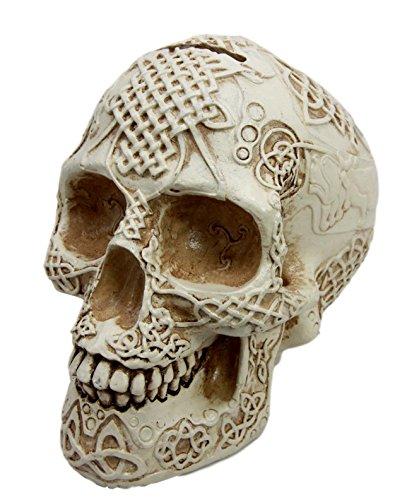 atlantic-collectibles-bone-cream-celtic-lion-tribal-knot-tattoo-coat-of-arms-skull-money-bank-figuri