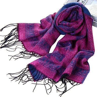 National Style Acrylfaser Lila Warm Winter-Schal mit Quasten online kaufen