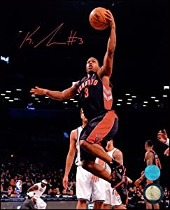 Kyle Lowry Toronto Raptors Autographed Hand Signed 11x14 Lay Up Photo by Hall of Fame Memorabilia