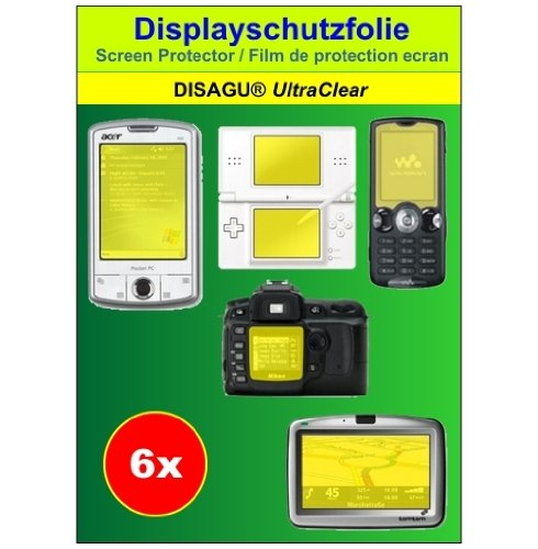 Ultra Clear Displayschutz Schutzfolie 6er Set für Canon Digital IXUS 95 IS