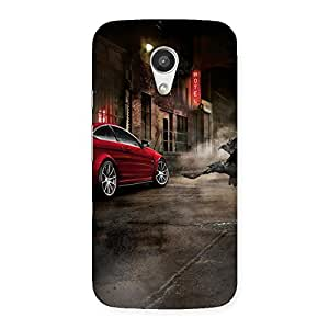 Premium Red Car Impact Multicolor Back Case Cover for Moto G 2nd Gen