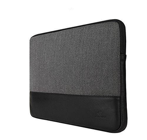 Gearmas MacBook 11/12/13/15インチ ケース MacBook Air Pro Rerina カバー PCケース ジッパー式 インナーケース おしゃれ (11.6-12インチ, ブラック)