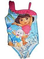 Nick Jr Dora The Explorer Toddler Girls Pink Ruffle One Piece Swimsuit
