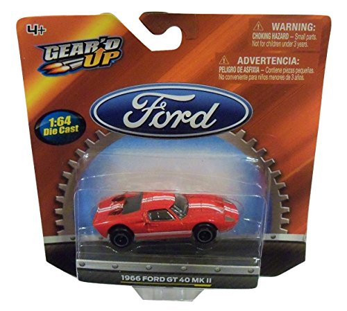 geard-up-officially-licensed-ford-164-die-cast-vehicle-1966-ford-gt-40-mk-ii-red-with-dual-white-rac