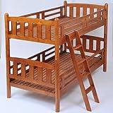 JKプラン 天然木積み重ね2段ベッド ライトブラウン hsw-002
