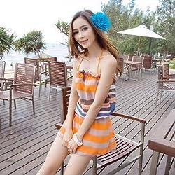 Krivani Women's Beach Wear (BW104_Multi-colored_MEDIUM)