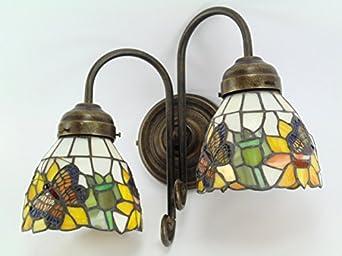 Applique ottone brunito lampada illuminazione appliques parete