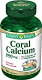 Nature's Bounty Coral Calcium Plus Vitamin D & Magnesium, 1000 mg, 120 Capsules Pack of 2