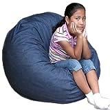 2-feet Denim Cozy Sac Bean Bag Chair Love Seat