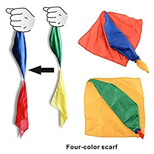 {Factory Direct Sale} Change Color Silk Scarf For Magic Trick By Mr. Magic Streets Joke Props Tools Toys Gift Randomly