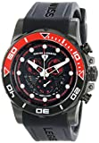 """Swiss Legend Men's 21368-BB-01-RDAB """"Avalanche"""" Stainless Steel Watch with Black Silicone Band"""