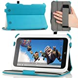 "MoKo Slim-Fit Multi-angle Folio Cover Case for Barnes & Noble Nook Full HD 7"" Inch Tablet, BLUE (with Smart Cover Auto Wake/Sleep Feature)-Lifetime Warranty"
