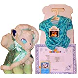 Build A Bear Pokemon Alolan White Vulpix 13in. Plush with Cape Sleeper Sound TCG Card Online Exclusive Bundle (Tamaño: 13 inches)