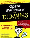 img - for Opera Web Browser For Dummies (For Dummies (Computers)) book / textbook / text book
