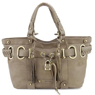BOVARI XL Taupe Padlock Shopper Bag - super soft limited edition -