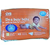 CVS Pharmacy 42-ct Ultra Soft Disposable Baby Diapers Size 2 (12-18 Lbs, 5-8 Kg)