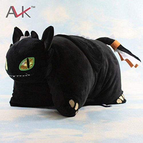 [Rosy Women New 40Cm*33Cm Soft Toy How To Train Your Dragon Night Fury Toothless Plush Pillow] (Kids Toothless Night Fury Costumes)