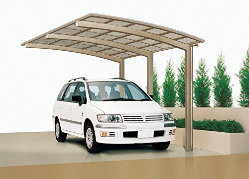 XIMAX-Aluminium-Design-Carport-Portoforte-Standard-Ausfhrung-Typ-170-Edelstahl-Look
