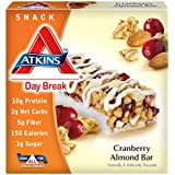 Atkins Day Break Cranberry Almond Morning Snack Bar, 5 Count Bars, 6 oz.