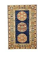 L'EDEN DEL TAPPETO Alfombra Anar Gul Azul/Teja 78 x 122 cm
