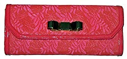 Ted Baker Laicia Lace Bow Clutch (Bright Pink)