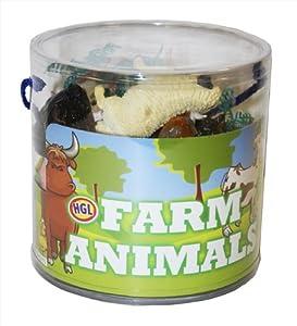 animaux de la ferme dans un seau de transport en plastique. Black Bedroom Furniture Sets. Home Design Ideas